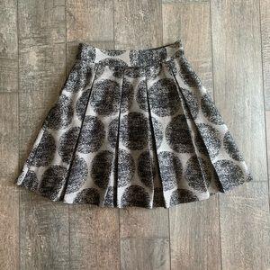 Alice + Olivia High-Waist Pleated A-Line Skirt